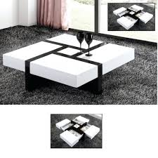 nest of coffee tables modern coffee table details about modern design white high gloss nest