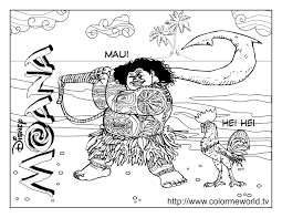 maui coloring page coloring home
