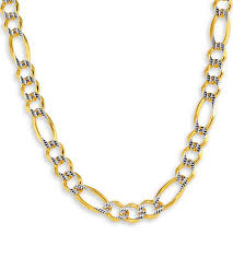 necklace figaro images New 14k two tone gold figaro chain link necklace 7 9mm figaro jpg