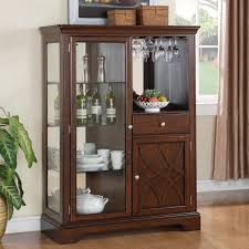curio cabinet corner curio cabinets withts bar cabinet wayfair
