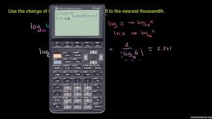 The Meaning Of Logarithms Worksheet Answers Evaluating Logarithms Change Of Base Rule Video Khan Academy