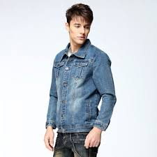 light blue denim jacket mens buy autumn mens denim jacket coat single breasted loose fit light