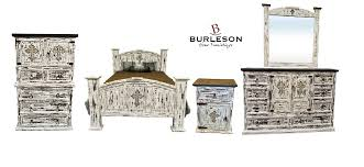 White Rustic Bedroom Furniture King Size Real Wood White Scrape Reclaimed Look Bedroom Set
