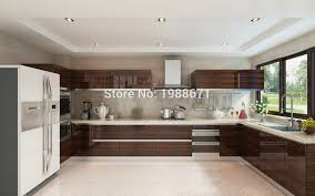 mdf kitchen cabinet doors modern high gloss wood veneer lacquer