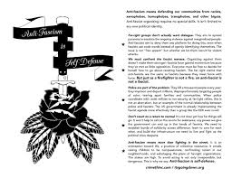 anti fascism is self defense a general purpose flier it u0027s going