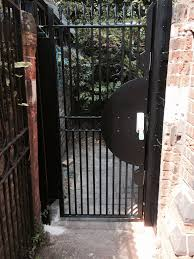 rsg3200 security door gate securing the back opening of a church