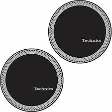 Butter Rug Slipmats by Technics Technics Strobe 3 Slipmats Pair Black Silver Vinyl At