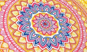 mandala colouring patterns print colour