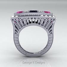 art deco diamond and sapphire engagement rings antique art deco