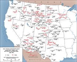 Navajo Reservation Map 1860 1890 Posts Established Native American Tribes U0026 Battles