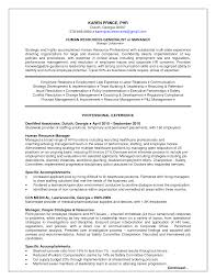 Sample Resumes For Hr Professionals by Sample Resume For Hr Recruiter Position Resume For Your Job