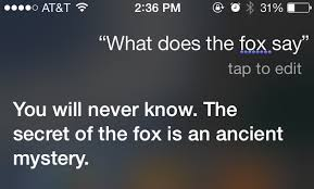 What Did The Fox Say Meme - siri recites what does the fox say the mary sue