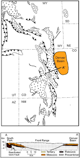 Rocky Mountain States Map Upper Cretaceous And Tertiary Stratigraphy Of The Denver Basin