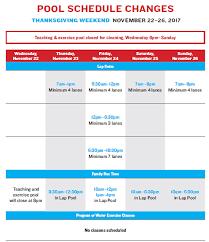 thanksgiving schedule changes at asphalt green asphalt green