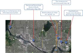 Map Of Greenlake Seattle by The Grand Tour Map Of Nirvana U0026 Kurt Cobain Sites In Seattle