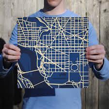 George Washington University Campus Map by George Washington University Campus Map Art City Prints