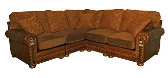 Large Brown Sectional Sofa Leather And Fabric Sectional Sofa Hotelsbacau
