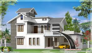 Kerala Home Design And Floor Plans Western Style House Rendering
