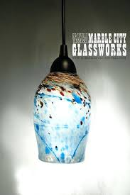 Blown Glass Pendant Lighting Blown Glass Pendant Lighting Blue Speckled Blown Glass