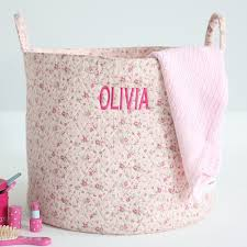 pink ditsy storage bag my 1st years