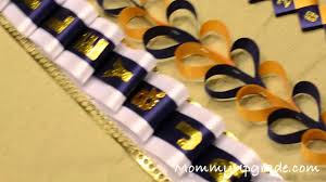 homecoming ribbon homecoming mums 101 how to make the diamond back