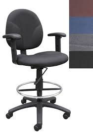 Adjustable Drafting Chair Boss Drafting Stool With Adjustable Arms Free Shipping Today