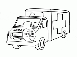 rescue transportation ambulance coloring page for kids coloring