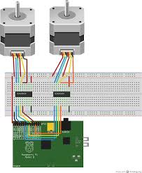 Stepper Motor Driver Wiring Diagram Winkleink Box Of Wires Raspberry Pi Unipolar Stepper Motors