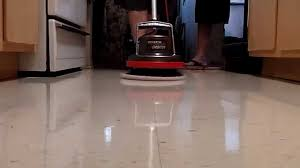 Zep Concrete Floor Cleaner by Polishing A Waxed Floor With Oreck Orbiter Youtube