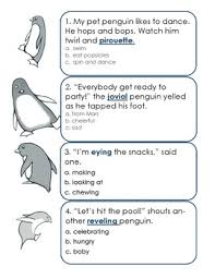 context clues worksheet story booklet