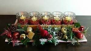 my christmas jelly jar centerpiece for christmas my repurposed