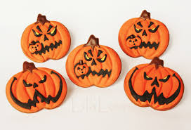 Halloween Pumpkin Sugar Cookies by Scarier Jack O Lantern Cookies Lilaloa Scarier Jack O Lantern