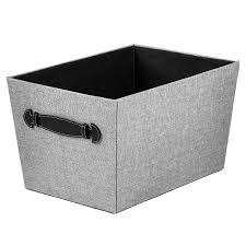 amazon com creative scents fabric decorative storage basket gray