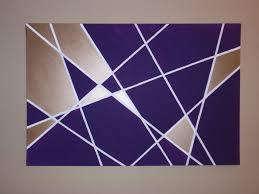 wall art ideas design purple rectangle geometric wall art home