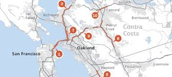 Bay Area Rapid Transit Map Bay Area Vital Signs Freeway Congestion Hits New Record News