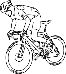 free sports bicycle pictures graphics coloring page wecoloringpage