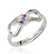 mothers infinity ring mothers ring with 3 birthstones platinum plated