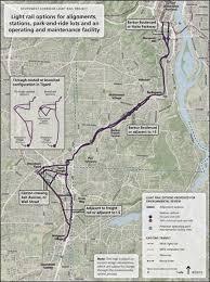 portland light rail map plin media group tigard business group backs light rail measure