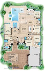 luxury mediterranean house plan with photos outdoor kitchen pool floor plan