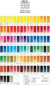 watercolour paints palette and swatches colour chart paint