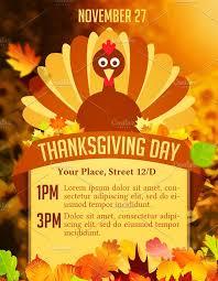 thanksgiving day flyer flyer templates creative market