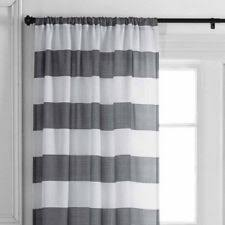 Striped Curtain Panels Horizontal Better Homes U0026 Gardens Lined Curtains Ebay