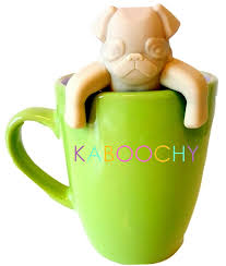 amazon com kaboochy pug life silicone tea infuser cute loose