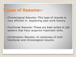 Best Type Of Resume by Resume Writing