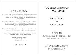 wedding program cover wording wedding program thank you messages europe tripsleep co