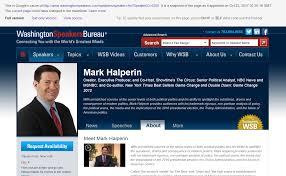 washington speakers bureau halperin s speakers bureau deleted him from its website