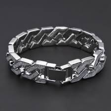 bracelet chain link styles images New silver style sand blast bracelet cuban chain link dee jpg