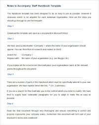 hr manual template notes accompany staff handbook template 35
