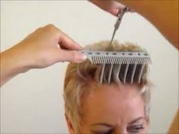 trimming hair angle cut how to cut women s short hair layer haircut combpal scissor over