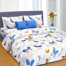 buy bed sheets blue butterfly pattern double bed sheet 699 00 king size double